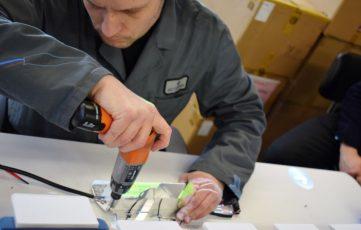 montage van led-verlichting met hulp van de smartbeamer